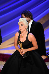 Lady Gaga accepts the Oscar® for achievement in music written for motion pictures (original song) during the live ABC Telecast of The 91st Oscars® at the Dolby® Theatre in Hollywood, CA on Sunday, February 24, 2019.