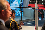 A multipurpose missile on the Bae Systems Stand - The DSEI (Defence and Security Equipment International) exhibition at the Excel Centre, Docklands, London UK 15 Sept 2015
