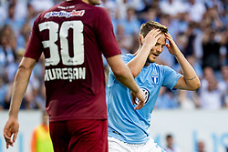 August 1, 2018 - MalmÅ, Sweden - 180801 Eric Larsson of MalmÅ¡ FF looks dejected during the UEFA Champions League qualifying match between MalmÅ¡ FF and Cluj on August 1, 2018 in MalmÅ¡..Photo: Ludvig Thunman / BILDBYRN / kod LT / 35511 (Credit Image: © Ludvig Thunman/Bildbyran via ZUMA Press)