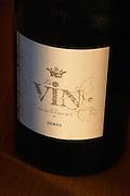 Bottle of cuvee Le vin selon David Fourtout (The Wine according to David Fourtout), detail of label Domaine Vignoble des Verdots Conne de Labarde Bergerac Dordogne France