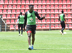 South Africa: Johannesburg: Orlando Pirates striker Thamsanqa Gabuza gestures during the a training session at the Rand Stadium in preparation for the much anticipating Soweto derby on the weekend, Gauteng.<br />Picture: Itumeleng English/African News Agency (ANA)