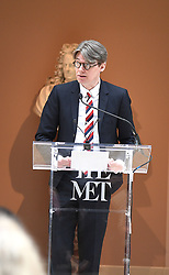 Andrew Bolton  speaks at the Press Preview of Rei Kawakubo/Comme des Garcons: Art of the In-Between exhibit at The Costume Institute at the Metropolitan Museum of Art on May 1, 2017 in New York, New York, USA.  *** Please Use Credit from Credit Field ***