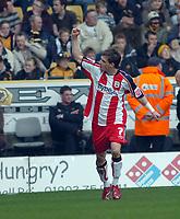 Photo: Kevin Poolman.<br />Wolverhampton Wanderers v Southampton. Coca Cola Championship. 31/03/2007. Rudi Skacel (No.7) celebrates his and Southampton's 2nd goal.