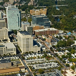 Aerial view of Downtown Wilmington, Delaware, View Northwest