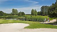 VIJFHUIZEN - Haarlemmermeersche Golf Club. Leeghwater green Hole 7.COPYRIGHT KOEN SUYK