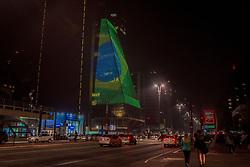 September 7, 2017 - SâO Paulo, São Paulo, Brazil - SAO PAULO SP, SP 07/09/2017 CELEBRATION INDEPENDENCE OF BRAZILThe Federation of Industries of the State of São Paulo, displays the flag of Brazil on its façade as part of the celebrations of September 7, independence of Brazil on Thursday night (7) in São Paulo. (Credit Image: © Cris Faga via ZUMA Wire)