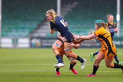 Alex Matthews of Worcester Warriors Women tries to break the line - Mandatory by-line: Nick Browning/JMP - 24/10/2020 - RUGBY - Sixways Stadium - Worcester, England - Worcester Warriors Women v Wasps FC Ladies - Allianz Premier 15s