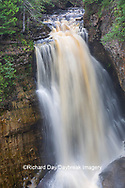 64745-00306 Miner's Falls in fall, Pictured Rocks National Lakeshore Alger Co. MI
