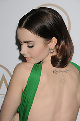 Arrivals at the Producer's Guild Awards in Los Angeles, California. 28 Jan 2017 Pictured: Lily Collins. Photo credit: ZUMA Press / MEGA TheMegaAgency.com +1 888 505 6342