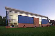Main Facade, whole building, dusk