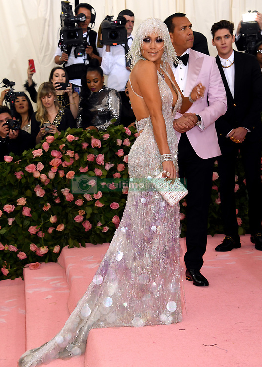 Jennifer Lopez and Alex Rodriguez attending the Metropolitan Museum of Art Costume Institute Benefit Gala 2019 in New York, USA.