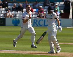 May 4, 2018 - Chelmsford, Greater London, United Kingdom - Essex's Simon Cook celebrates the catch of Yorkshire's Adam Lyth by Essex's James Foster.during Specsavers County Championship - Division One, day one match between Essex CCC and Yorkshire CCC at The Cloudfm County Ground, Chelmsford, England on 04 May 2018. (Credit Image: © Kieran Galvin/NurPhoto via ZUMA Press)