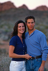 Good looking couple in the Nevada desert.