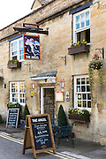 The Angel inn traditional old gastro pub hotel in Burford in The Cotswolds, Oxfordshire, UK