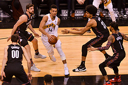 January 11, 2019 - Toronto, Ontario, Canada - Danny Green #14 of the Toronto Raptors against Brooklyn Nets players ..during the Toronto Raptors vs Brooklyn Nets NBA regular season game at Scotiabank Arena on January 11, 2019, in Toronto, Canada (Toronto Raptors win 122-105) (Credit Image: © Anatoliy Cherkasov/NurPhoto via ZUMA Press)