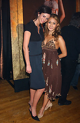 Left to right, Model MARIE DONOHUE and YUKI OSHIMA-WILPON at the Myla Debutantes Coming-Out show held at The Porchester Hall, Porchester Road, London on 31st January 2006.<br /><br />NON EXCLUSIVE - WORLD RIGHTS