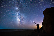 Experiencing the Milky Way on a clear night in September during the Block Island off-season, on a stretch of empty beach at the base of Mohegan Bluffs.