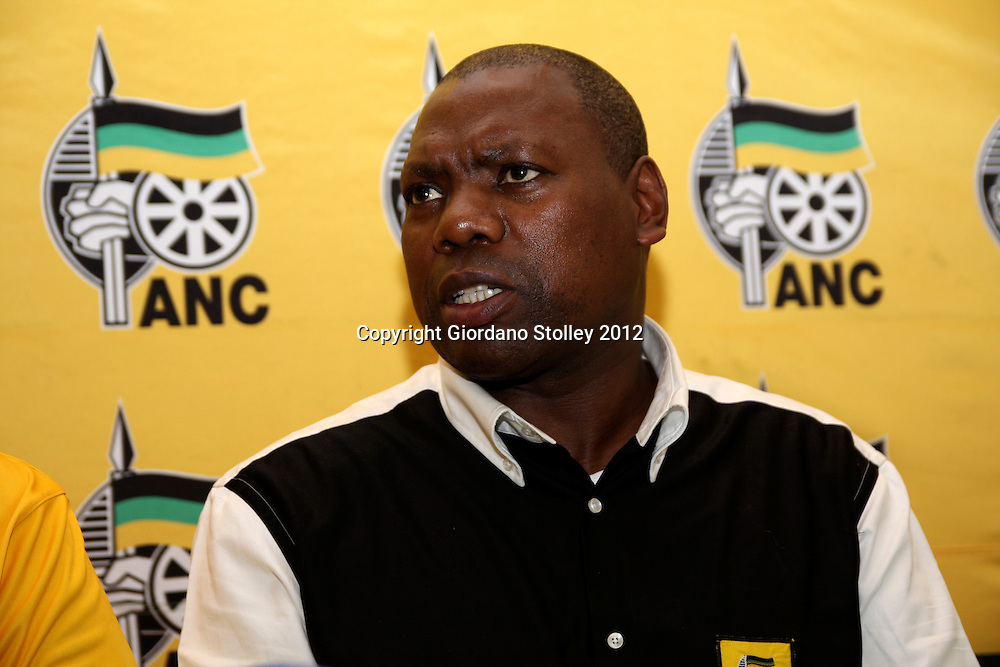 NEWCASTLE - 12 May 2012 - Dr Zweli Mkhize, the KwaZulu-Natal provincial premier and chairman of the African National Congress in KwaZulu-Natal speaks to the media at the party's provincial conference..Picture: Giordano Stolley/Allied Picture Press/APP