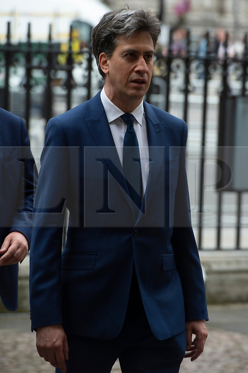 © Licensed to London News Pictures. 20/06/2019. London, UK. Ed Miliband MP attends a Service of Thanksgiving for Lord Haywood at Westminster Abbey. Jeremy Heywood served as Cabinet Secretary from 2012 and Head of the Home Civil Service until shortly before his death in 2018. Photo credit: Ray Tang/LNP
