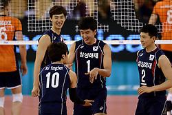 01-06-2014 NED: WLV Nederland - Zuid Korea, Eindhoven<br /> Myung-Geun Song, Sun-So Han
