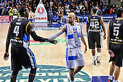DESCRIZIONE : Campionato 2014/15 Serie A Beko Dinamo Banco di Sardegna Sassari - Upea Capo D'Orlando<br /> GIOCATORE : Dario Hunt David Logan<br /> CATEGORIA : Fair Play<br /> SQUADRA : Dinamo Banco di Sardegna Sassari<br /> EVENTO : LegaBasket Serie A Beko 2014/2015<br /> GARA : Dinamo Banco di Sardegna Sassari - Upea Capo D'Orlando<br /> DATA : 22/03/2015<br /> SPORT : Pallacanestro <br /> AUTORE : Agenzia Ciamillo-Castoria/L.Canu<br /> Galleria : LegaBasket Serie A Beko 2014/2015