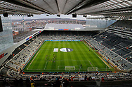 View from the top tier of St James's Park during the EFL Sky Bet Championship match between Newcastle United and Burton Albion at St. James's Park, Newcastle, England on 5 April 2017. Photo by Richard Holmes.