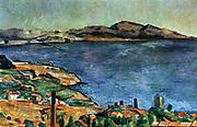 Marseille', 1883-1885. Oil on canvas. Paul Cezanne (1839-1906) French Post-Impressionist painter. France Landscape Sea Bay Coast Blue