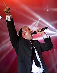 "24.04.2015, Rothaus Arena, Freiburg, GER, Unheilig, Gipfelstürmer Tournee 2015, im Bild Frontsaenger der Graf, Bernd Graf // performs live on stage during the 2015 tour ""Gipfelsturmer"" at Rothaus Arena in Freiburg, Germany on 2015/04/24. EXPA Pictures © 2015, PhotoCredit: EXPA/ Eibner-Pressefoto/ Fleig<br /> <br /> *****ATTENTION - OUT of GER*****"