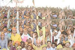May 1, 2019 - Kaushambi: Peoples during Indian Prime minister and BJP leader Narendra Modi address  an election campaign public rally at Bharwari in Kaushambi district of Uttar Pradesh on 01-05-2019. Photo by prabhat kumar verma (Credit Image: © Prabhat Kumar VermaZUMA Wire)