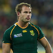 Francois Hougaard, South Africa, in action during the South Africa V Australia Quarter Final match at the IRB Rugby World Cup tournament. Wellington Regional Stadium, Wellington, New Zealand, 9th October 2011. Photo Tim Clayton...