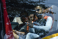 October 21, 2018 - Guwahati, Assam, India - Indian cricket team captain Virat Kohli in the Indian cricket team bus when entering to the Barsapara Cricket Stadium in the day of India vs West Indies one day international cricket match in Guwahati, Assam, India on Sunday, October 21, 2018. (Credit Image: © David Talukdar/NurPhoto via ZUMA Press)