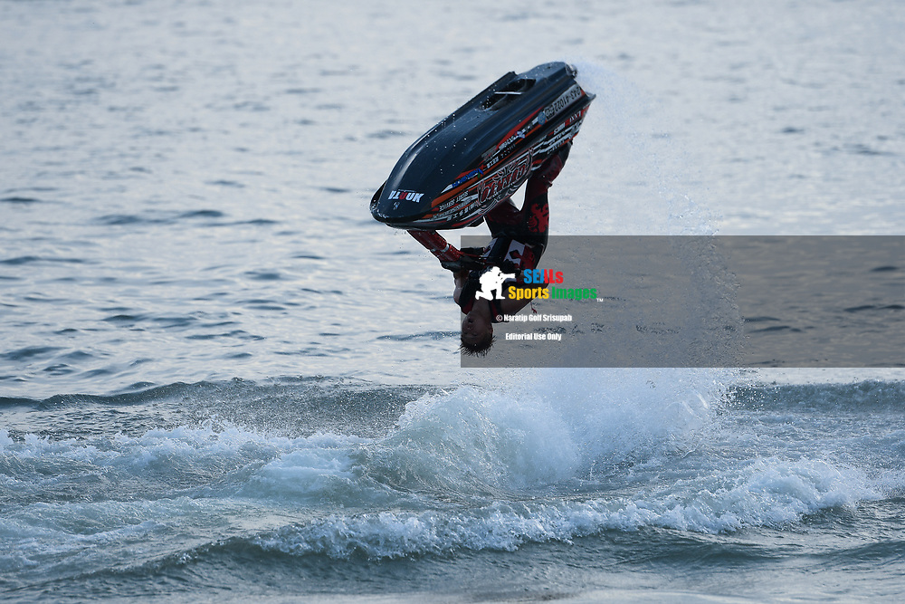 PATTAYA, THAILAND - DECEMBER 09: Masaki Omae of Japan and Lore in action during the Pro Freestyle at the Thai Airways International Jet Ski World Cup 2018, Jomtien Beach, Pattaya, Thailand on December 09, 2018. <br /> .<br /> .<br /> .<br /> (Photo by: Naratip Golf Srisupab/SEALs Sports Images)<br /> .<br /> Any image use must include a mandatory credit line adjacent to the content which should read: Naratip Golf Srisupab/SEALs Sports Images