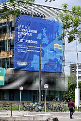 Poster campaign on the maintenance of the European Parliament in Strasbourg on May 23, 2019, ahead of upcoming European elections. European elections will be held from May 22 to 26, 2019. Photo by Nicolas Roses/ABACAPRESS.COM