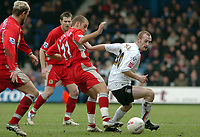 Photo: Kevin Poolman.<br />Luton Town v Blackburn Rovers. The FA Cup. 27/01/2007. Drew Talbot of Luton looks to get past David Bentley of Blackburn.