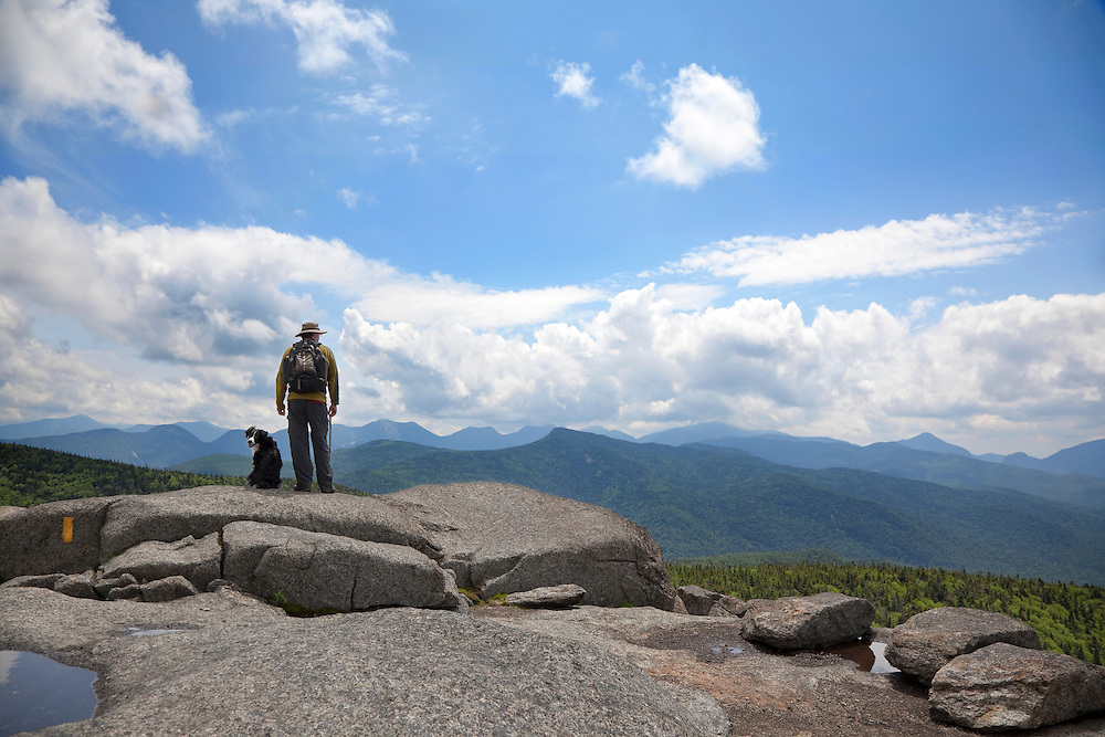 hiker & dog on Cascade