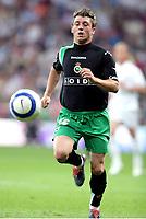 JONATAN Valle, Spanish Football player and Racing forward, runs after the ball. Real Madrid - Racing Santander / League 2004-05. Santiago Bernabeu Stadium, Madrid. 07-05-2005. <br />  <br />  <br /> Norway only