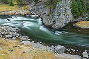 Firehole River in Firehole Canyon Firehole River in Firehole Canyon