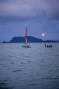 Full Moon Rise, Kaneohe Bay, Oahu, Hawaii