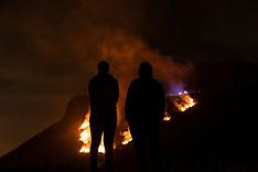 Salisbury Crags Fire, Edinburgh, 26 February 2019