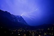Blitzeinschlag im Eigergipfel