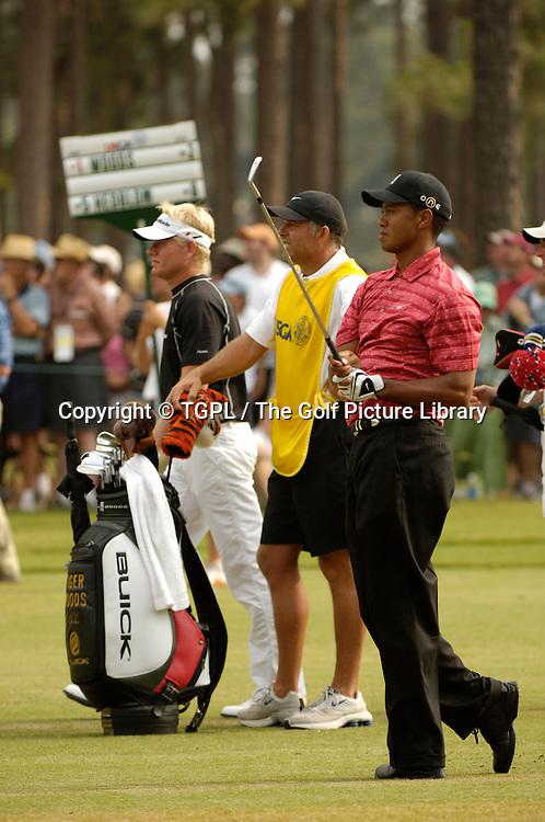 Tiger WOODS (USA) during fourth round US Open 2005,Pinehurst No.2,Pinehurst,North Carolina,USA.