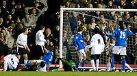 Photo. Glyn Thomas, Digitalsport<br /> Birmingham City v Bolton Wanderers.<br /> Barclays Premiership. 04/01/2005.<br /> Birmingham's Matthew Upson (fourth from L) equalises mid-way through the second half.