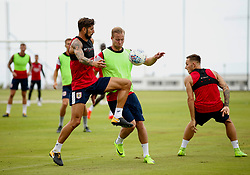 Eros Pisano challenges Gustav Engvall of Bristol City - Mandatory by-line: Matt McNulty/JMP - 21/07/2017 - FOOTBALL - Tenerife Top Training Centre - Costa Adeje, Tenerife - Pre-Season Training