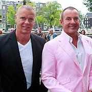 NLD/Amsterdam/20110731 - Premiere circus Hurricane met Hans Klok, Gerard Joling met manager en ex partner Wino Omtzigt