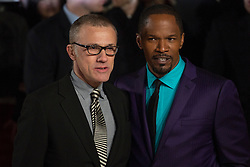 © licensed to London News Pictures. London, UK 10/01/2013. Christoph Waltz and Jamie Foxx attending the UK premiere of Django Unchained in Leicester Square, London. Photo credit: Tolga Akmen/LNP
