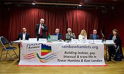 Rainbow Hamlets Mayor of Tower Hamlets Hustings in Bethnal Green, London, Great Britain <br /> 1st June 2015 <br /> <br /> <br /> <br /> <br /> John Biggs <br /> Labour <br /> candidate<br /> <br /> <br /> <br /> Photograph by Elliott Franks <br /> Image licensed to Elliott Franks Photography Services