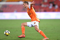 December 17, 2017 - Brisbane, QUEENSLAND, AUSTRALIA - Daniel Bowles of the Roar (4) in action during the round eleven Hyundai A-League match between the Brisbane Roar and the Melbourne Victory at Suncorp Stadium on Sunday, December 17, 2017 in Brisbane, Australia. (Credit Image: © Albert Perez via ZUMA Wire)