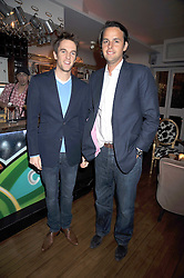 Left to right, DUNCAN STIRLING and CHARLIE GILKES at a party to celebrate the opening of Barts, Sloane Ave, London on 26th February 2009.