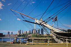 July 21, 2019 - Uss Constitution Historic Ship And Skyline, Boston, Massachusetts, Usa (Credit Image: © Bilderbuch/Design Pics via ZUMA Wire)