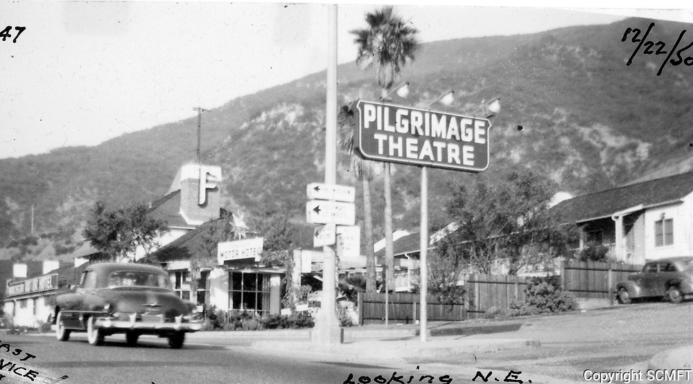 Pilgrimage Play Theater on the east side of the Cahuenga Pass. Now known as the John Anson Ford Theater